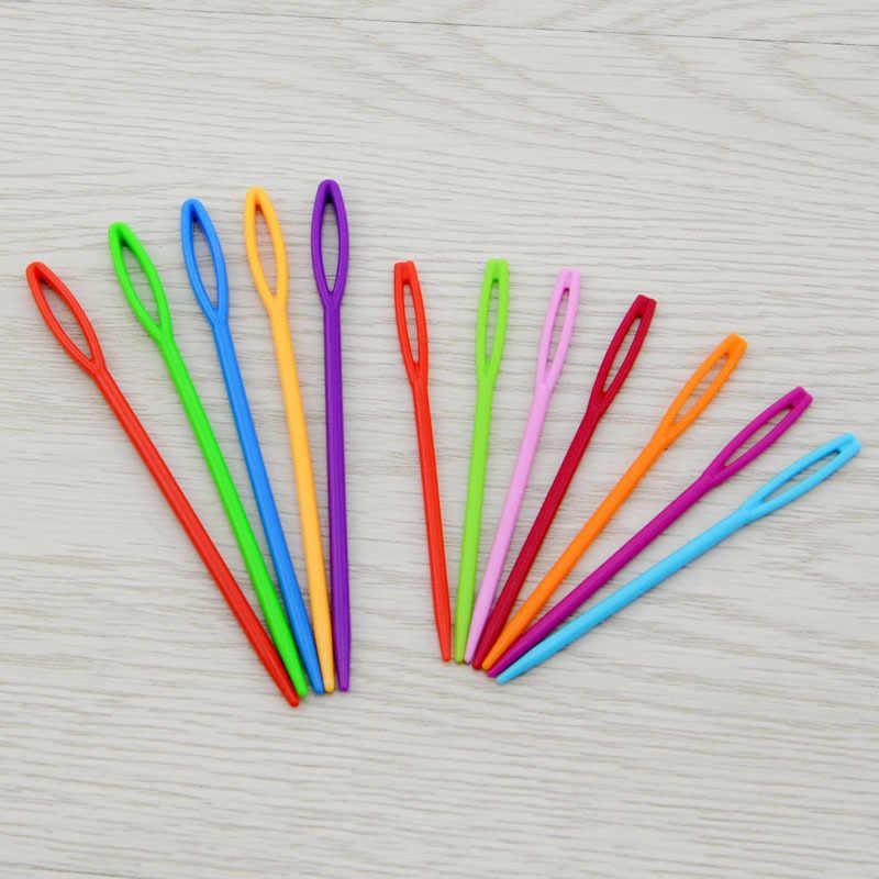 1 pc plástico tricô agulhas crochê ganchos tapeçaria 7 cm/9 cm lã fio agulhas crianças diy camisola ferramentas de tecelagem acessórios g