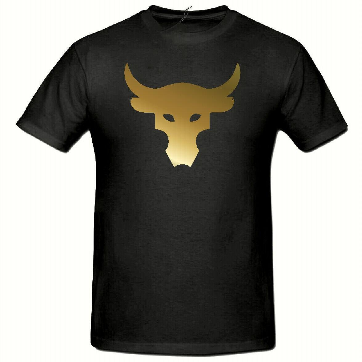 Brahma Bull Tshirt, The Rock Project Gym T Shirt Men Women Gold Slogan Tshirt Basic Models Tops Tee Shirt