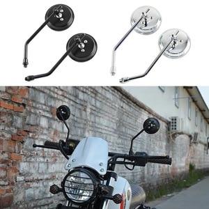 Универсальные зеркала для мотоцикла хромированное круглое зеркало для мотоцикла с длинным стержнем для Harley ktm kawasaki yamaha suzuki Ducati Honda Aprilia