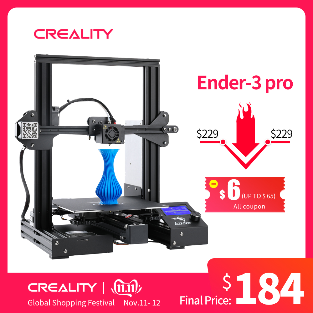 Newest Upgrade Ender 3 Pro CREALITY 3D Printer Kit With Cmagnetic Bulid Sticker Resume Print Power Off Brand Power Supply-in 3D Printers from Computer & Office