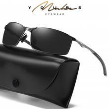 Óculos de sol polarizados dos homens armação de metal óculos de sol óculos de condução dos homens vintage marca de luxo designer aoron rays 2020