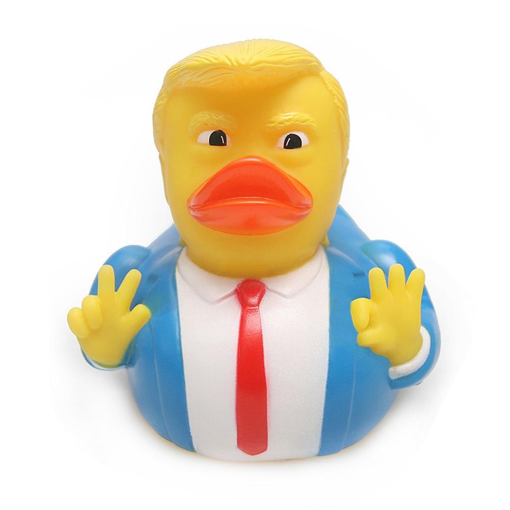 Trump Duck Bath Toy Shower Water Floating Rubber Duck Baby Toy Water Toy Rubber Baby Bath Toys For Kids Swim Bath