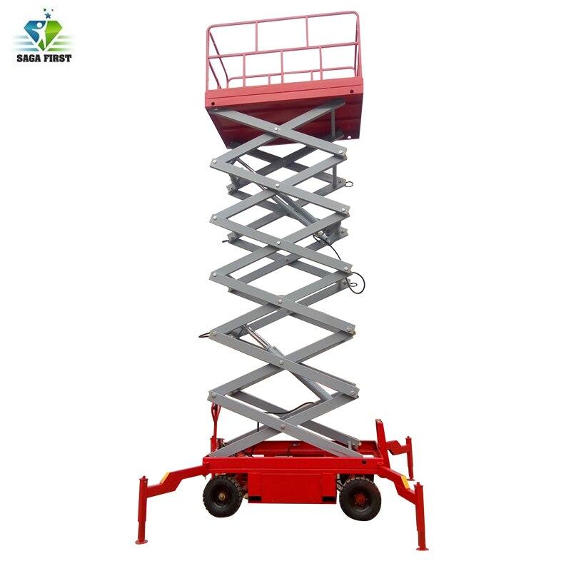 High Efficiency Full Electric Mobile Work Platform Scissor Lift For Sale