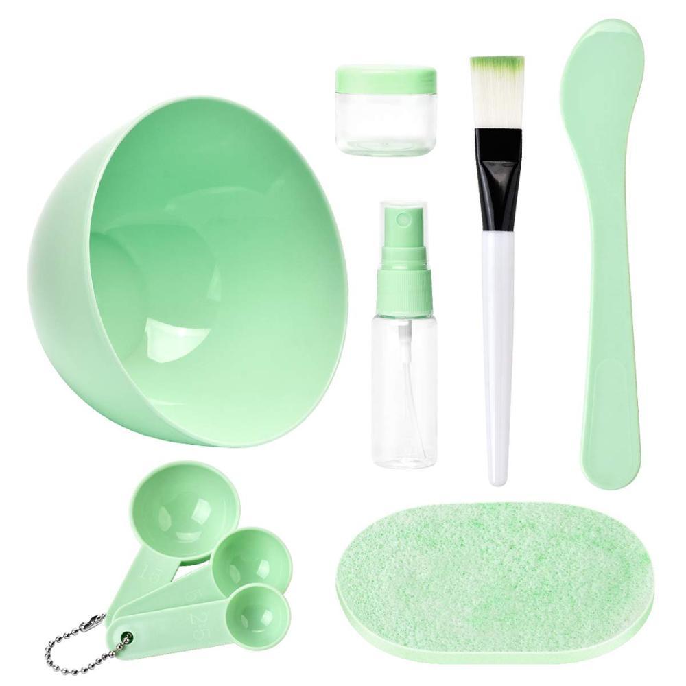 YBLNTEK 7PCS Face Mask Mixing Bowl Set Professional Facial Care Mask Tool Bowl Stick Brush Beauty Makeup Full Cosmetology Device