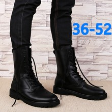 Men Boots Fashion Winter Shoes Genuine Leather Warm Snow Shoes Male Fur Plush High Top Snow Boots Military Boots Big Size 36-52