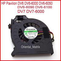 จัดส่งฟรียี่ห้อใหม่ MF60120V1 C181 S9A AD6505HX EEB สำหรับ HP Pavilion DV6 DV6 6000 DV6 6050 DV6 6090 DV6 6100 CPU Cooler พัดลม-ใน พัดลมและระบบทำความเย็น จาก คอมพิวเตอร์และออฟฟิศ บน