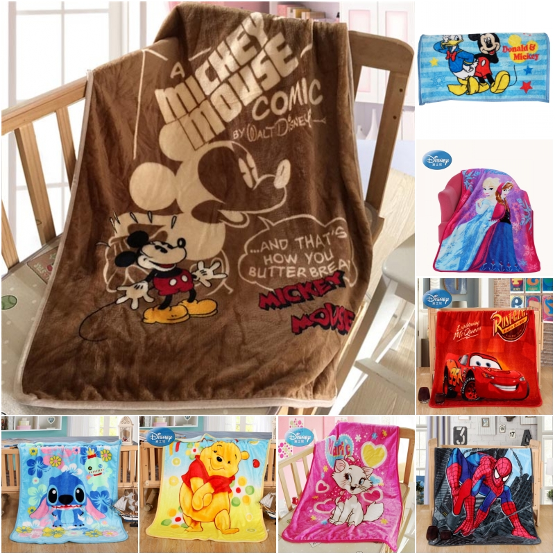 Disney Classic Cartoon Minnie Mickey Mouse Stitch Kids Children Blankets Throw 70x100cm Baby Pet Small Cobertor  On Crib Plane