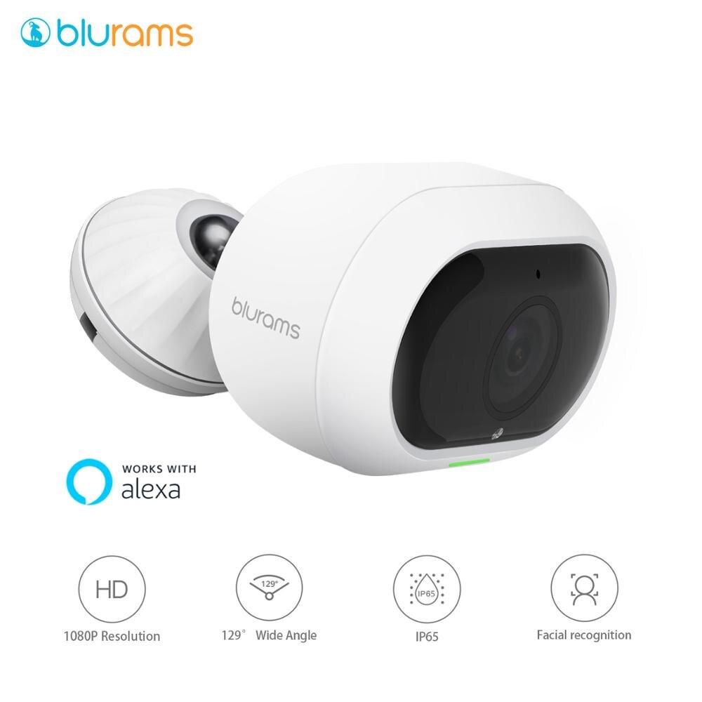 Уличная камера blurams Pro 1080p FHD, беспроводная IP камера CCTV, цилиндрическая уличная камера с распознаванием лица