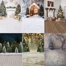 Kerst Fotografie Achtergrond Photocall Winter Sneeuw Haard Kerstbomen Foto Achtergrond Geschenken Familie Party Video Props