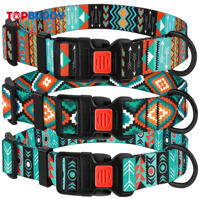 Hot Sales Scotland Style Pattern Printed Dog Neck Ring Thermal Transfer Pet Collar