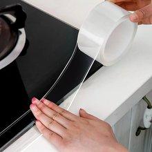 Kitchen sink waterproof sticker mildew waterproof tape bathroom countertop toilet gap self-adhesive seam furniture supplies