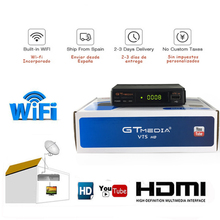 Gtmedia V7s hd With USB WIFI DVB-S2 spain TV Receiver  v7 power by freesat Support Europe cccam cline Network Sharing