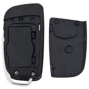 Image 5 - غطاء مفتاح جديد قابل للطي 3 أزرار وغطاء مفتاح السيارة الذكية فوب لفورد فوكس فييستا C ماكس جالاكسي كوجا S Max