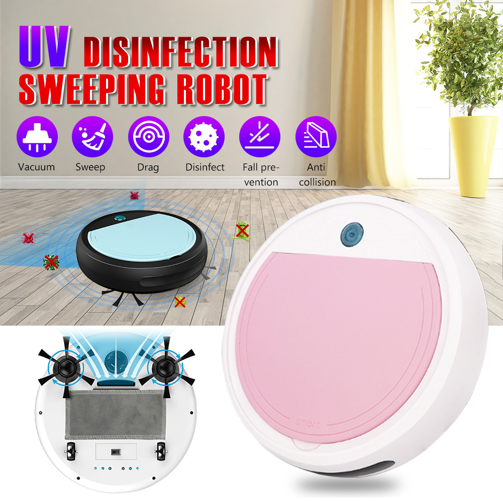 Robot Auto Smart Sweeping Robot 4 in 1 Automatically Charge Vacuum Cleaner UV Sterilizer <font><b>Strong</b></font> Suction memory <font><b>120</b></font> min work image