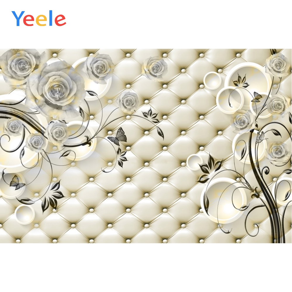 Yeele Wall Decor Photocall Bedhead Roses Refinement Photography Backdrops Personalized Photographic Backgrounds For Photo Studio