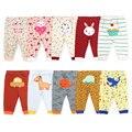 [5 Teile/los Zufällige Farbe] 100% Baumwolle Baby Hosen Cartoon Drucken Newborn Baby Kleidung Frühling Herbst Kleinkind Leggings 0-24 monate