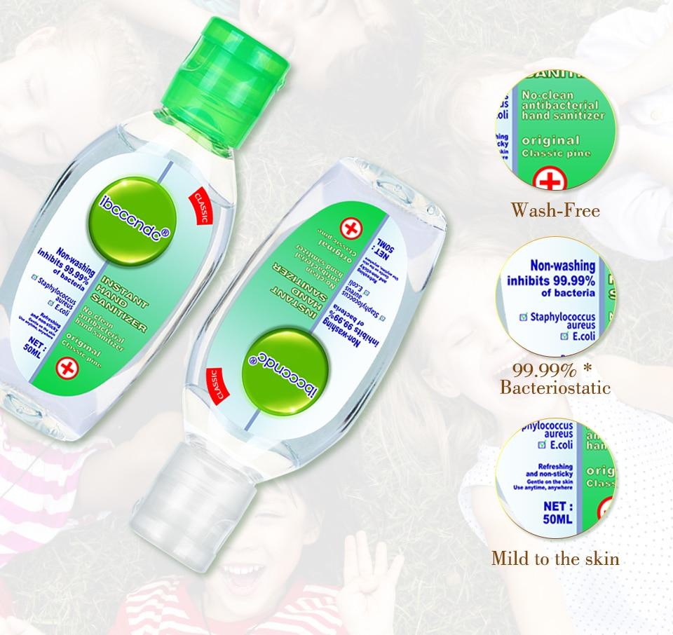 Hd656369e94564ecbbb3945346a6c605fO 50ml Travel Portable Hand Sanitizer Gel Anti-Bacteria Moisturizing Liquid Disposable No Clean Waterless Antibacterial Hand Gel