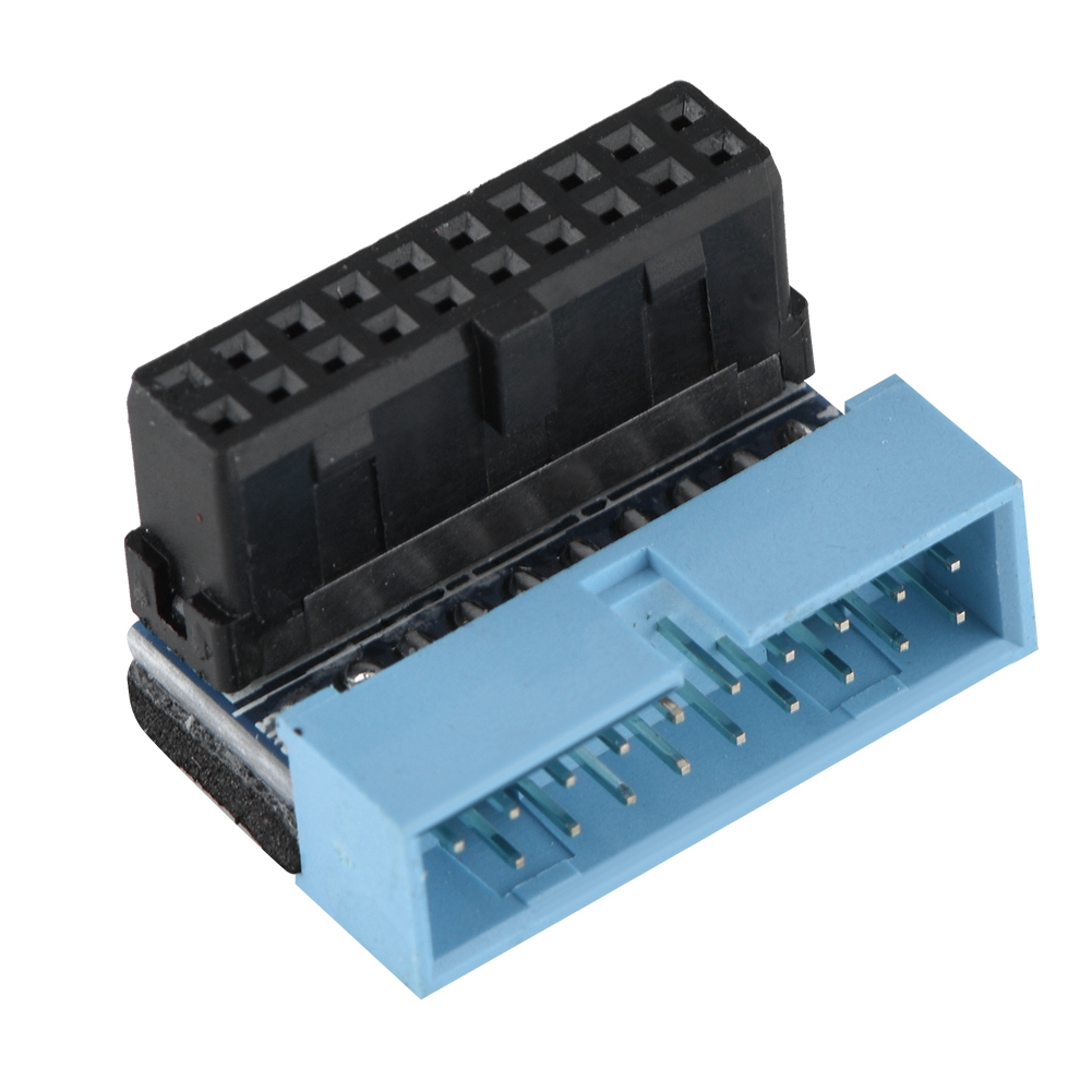 5Pcs <font><b>Motherboard</b></font> 19-Pin <font><b>Connector</b></font> Adapter 90 Degree Angled <font><b>USB</b></font> <font><b>3.0</b></font> High-Speed Signal Transmission Internal Header​ image