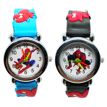 Super Hero Spiderman Children Watches for Boys Girls Clock Kids