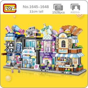 LOZ City Street Bakery Hair Salon Photo Studio Couture Clothing Bread Shop Store Architecture Mini Blocks Building Toy no Box