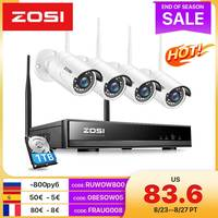 ZOSI 8CH Drahtlose CCTV System H.265 1080P NVR 2MP Outdoor Video Recorder Kamera IP Security System WiFi Video Überwachung kit