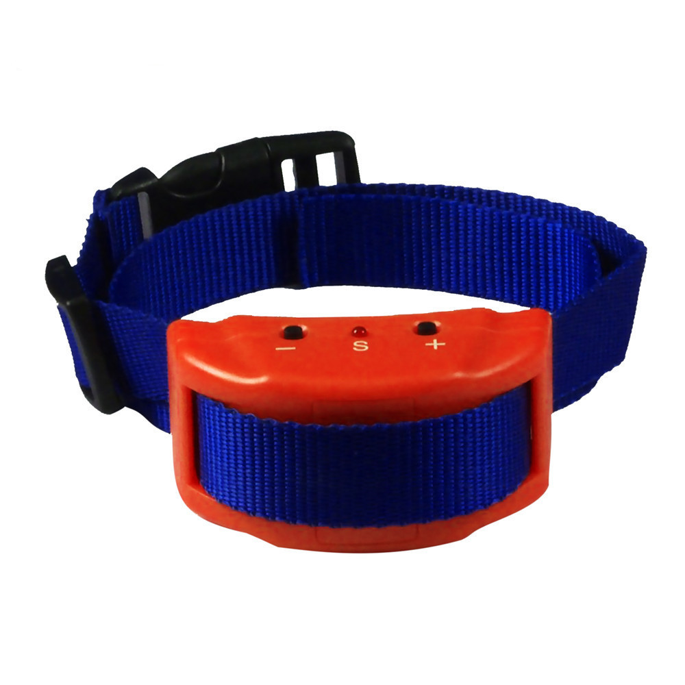 Orange Case + Blue Dog Traction Rope More New Style Automatic Pet Barking-stopper Warning Tone + Static Electricity Stimulate Ne