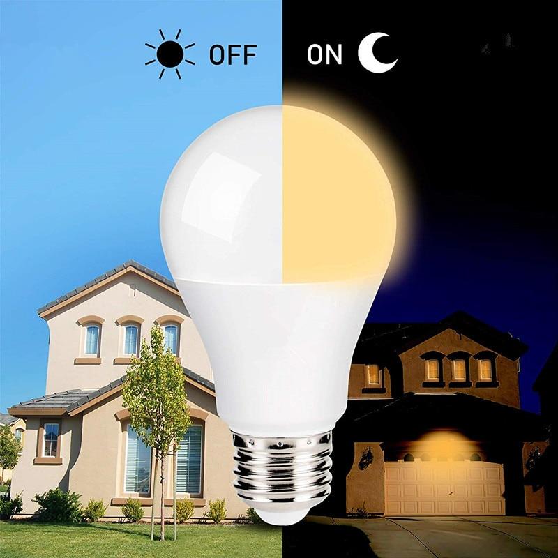 E27 B22 Dusk To Dawn Built-in Light Sensor LED Bulb 110V 220V Security Light Automatic On/Off Indoor/Outdoor Lighting Lamp