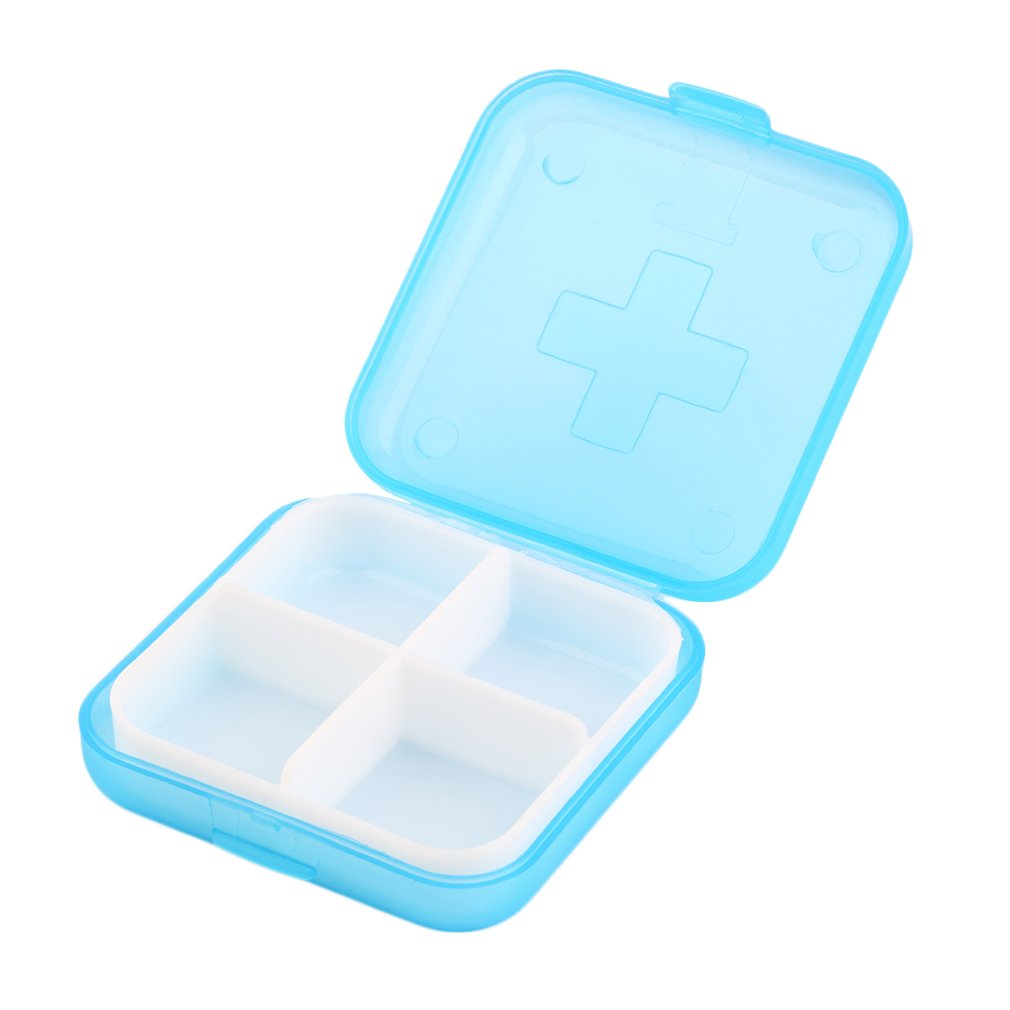 Case Organizer Container Drug-Boxes Compartment Medicine Plastic Portable Tablet-Holder title=