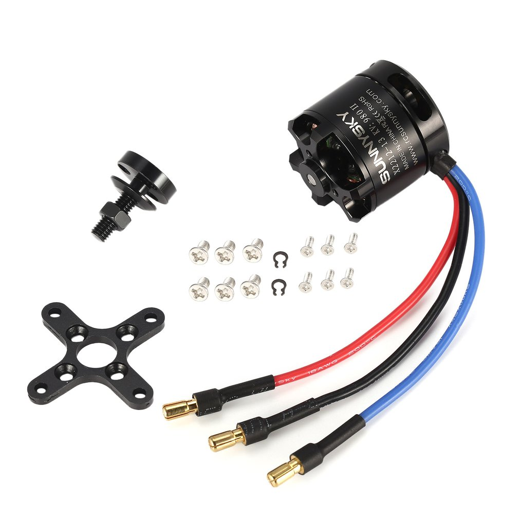 SUNNYSKY X2212 980KV II 2-4S Brushless Motor Short Shaft for RC Light Drone Fixed-wing Quad-Hexa Copter Multicopter DJIF450 F550 image