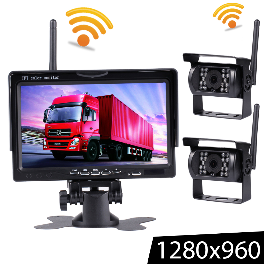 Recorder Car-Monitor Wifi-Camera Parking-System Truck High-Definition Night-Vision Wireless title=