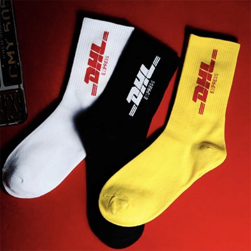 Men's Socks High-quality Cotton Hip-hop Style Letter Printing Tide Men's Men's Fashion Sports Basketball Skateboard Street Socks