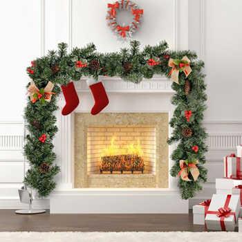 Christmas Decorations Ornaments Xmas Tree Garland Rattan Home Wall