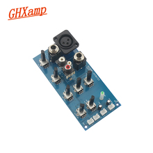 Ghxamp treble bass 조정 보드 2 세그먼트 eq 톤 밸런스 (마이크 포함) 리버브 효과 프리 앰프 보드 dc 전원 조정 9 v 15 v