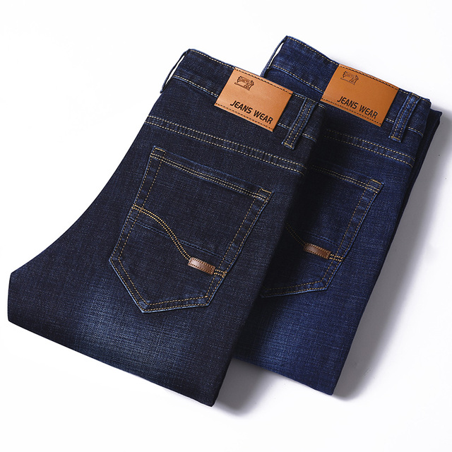SULEE Brand 2019 New Men's Slim Elastic Jeans Fashion Business Classic Style Skinny Jeans Denim Pants Trousers Male 5 Model 6