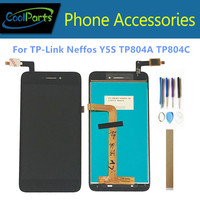 5.0 For TP LINK Neffos Y5S TP804A TP804C LCD Display With Touch Screen Glass Digitizer Sensor Assembly No Logo With Tools Tape