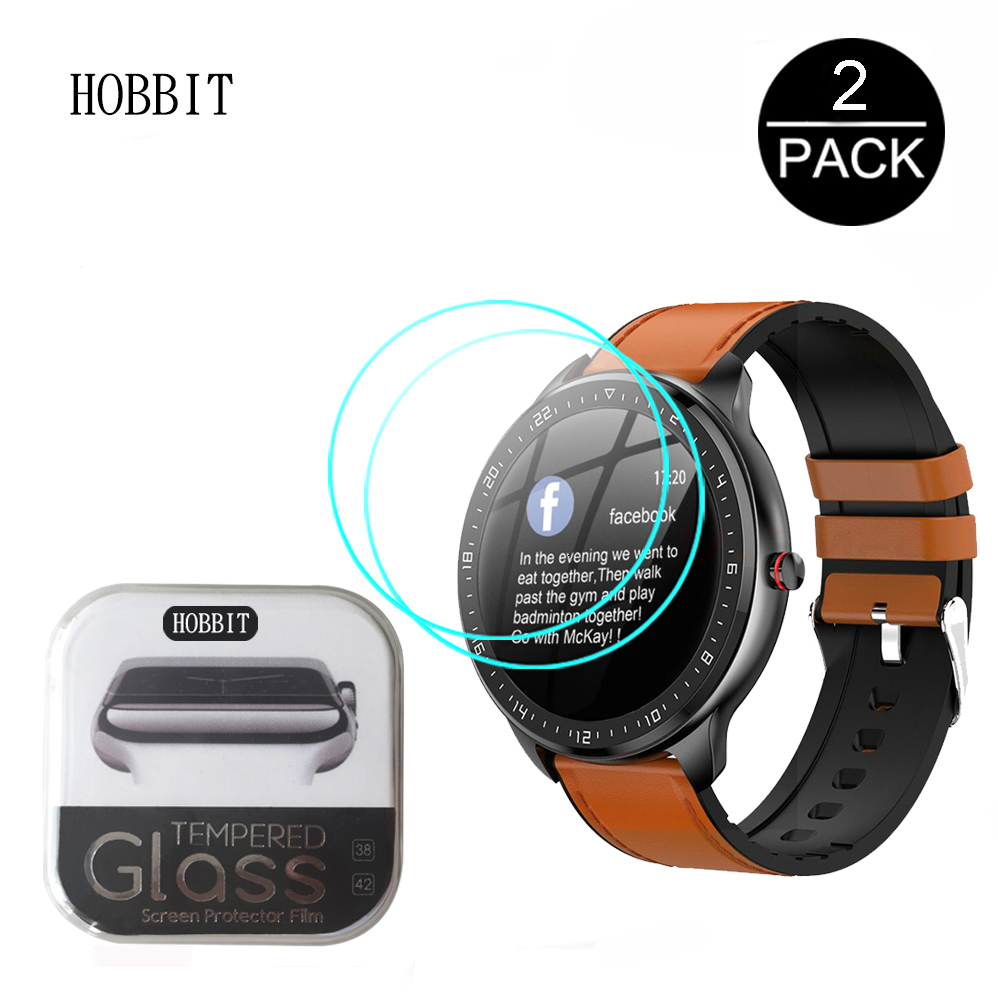 2Pcs 9H Clear Tempered Glass For LEMFO 2020 New Smart Watch IP67 Screen Protector Waterproof Scratch Resistant Screen Guard Film
