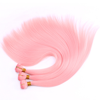 REYNA шелковистые прямые волосы 100 грамм/упаковка, цветные синтетические пряди для косплея, высокотемпературное плетение