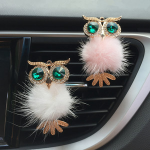 1Pcs Crystal Owl Car Air Freshener Auto Outlet Perfume Clip Interior Accessories Car-styling Vent Solid Fragrance Diffuser