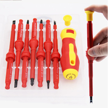 17PCs Multi-function Insulated Screwdriver Set Phillips Slotted Electrical Household Hand Tool  Electrical Screwdriver Set 6pcs insulated screwdriver set tester with ce gs slotted phillips screwdriver wtith magnetic hand tool kit