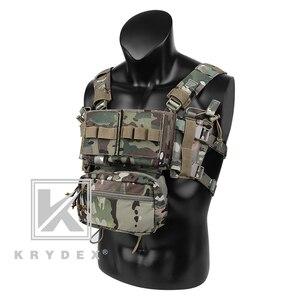 Image 2 - KRYDEX MK3 טקטי החזה מיני ספיריטוס ארומטיים Airsoft ציד אפוד צבאי ריינג טקטי Carrier Vest עם מגזין פאוץ
