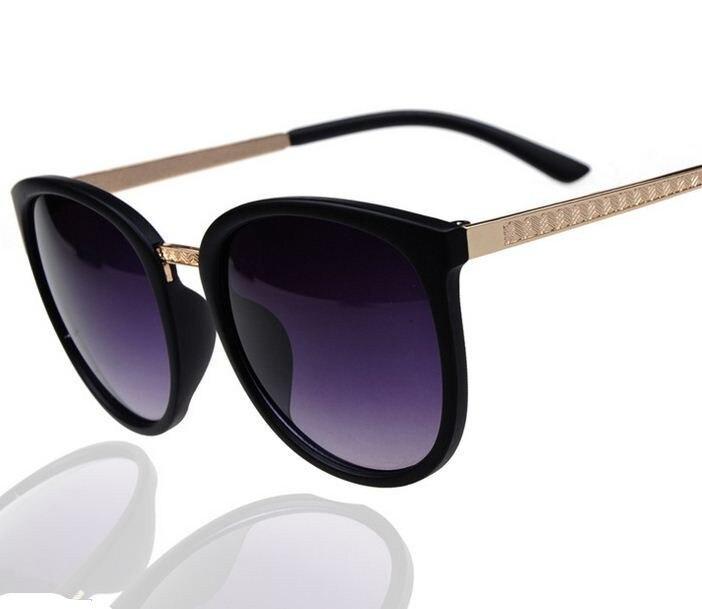 New Fashion Vintage Big Lenses Brand Design Metal Sunglasses Luxury Retro Women's Pilot Sun Glasses Gafas Oculos De Sol