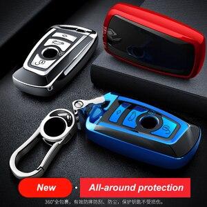 Image 3 - High Quality TPU Chrome Car Key Cover Key Bag fit for BMW X3 X4 X5 X6 1/3/5/7 Series M3 Key Shell Protector Auto Key Case Chains