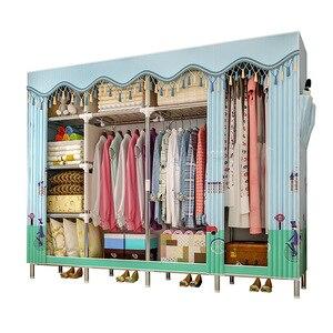 Image 2 - GIANTEXผ้าตู้เสื้อผ้าสำหรับเสื้อผ้าผ้าพับแบบพกพาตู้เก็บตู้ห้องนอนเฟอร์นิเจอร์