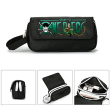 Pencil case bag new fashion students printed canvas zipper Pen gift