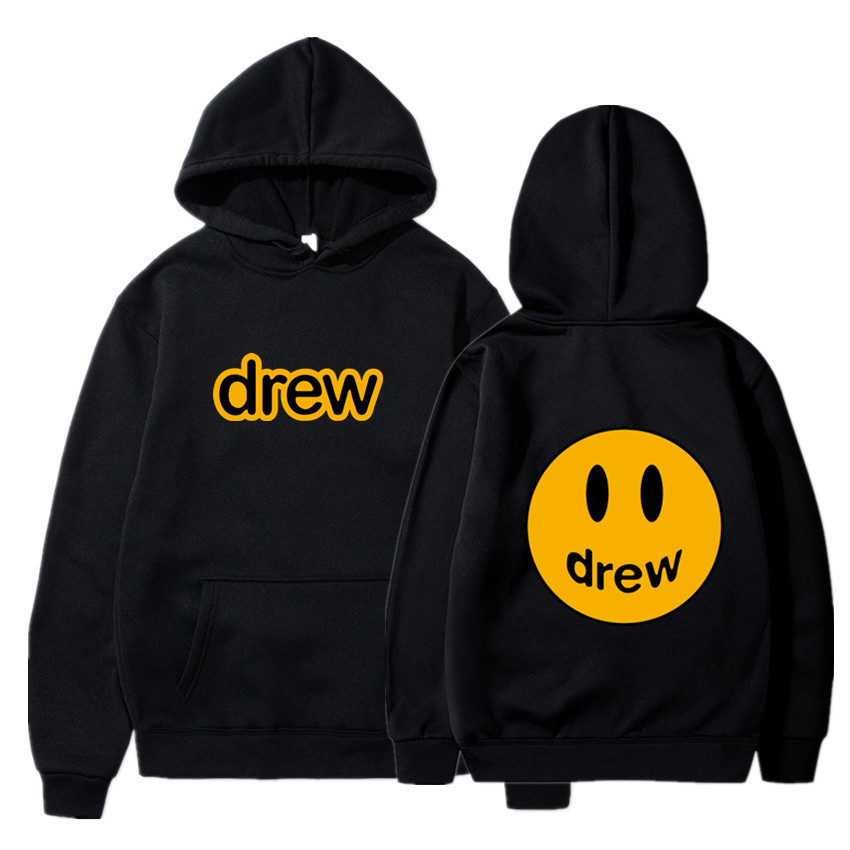 Fashion Men Hoodie Justin Bieber The Draw House Printed Smiley Face For Men And Women Hip Hop Pullover Winter Fleece Hoodies