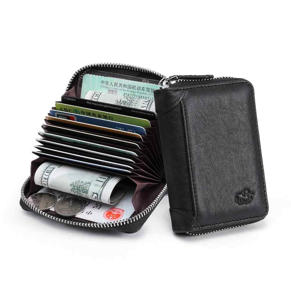 Bison denim carteira masculina de couro genuíno, grande capacidade com porta-cartão de crédito, carteira multifuncional estilo carteira de luxo n9538