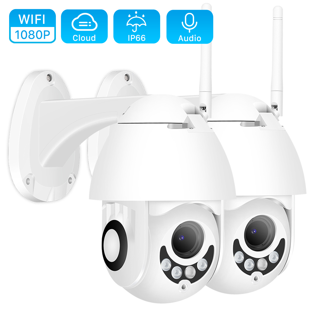 (2 Pack) 1080P PTZ 5X Zoom Wifi Camera Speed Dome  IP Camera 1080P Outdoor 2.8 12mm Lens Wireless Camera IR 40m Two Way Audio-in Surveillance Cameras from Security & Protection    1