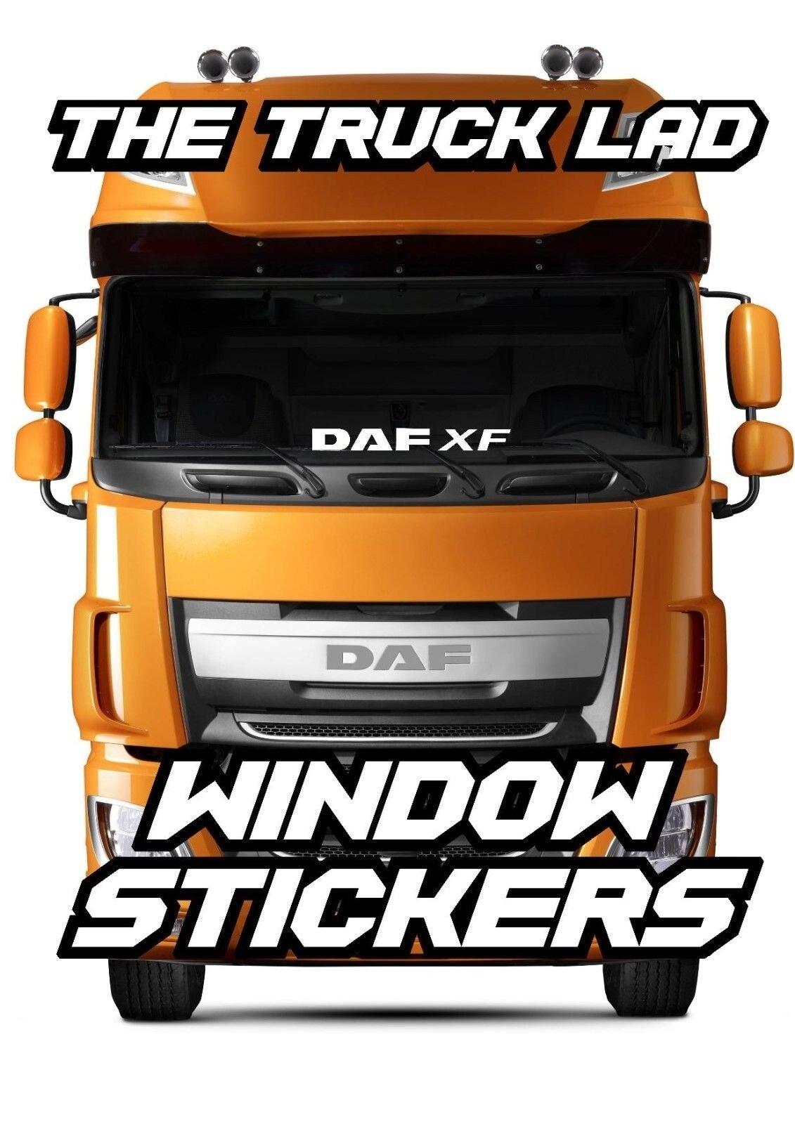 DAF XF Side Window Decals Stickers x 2