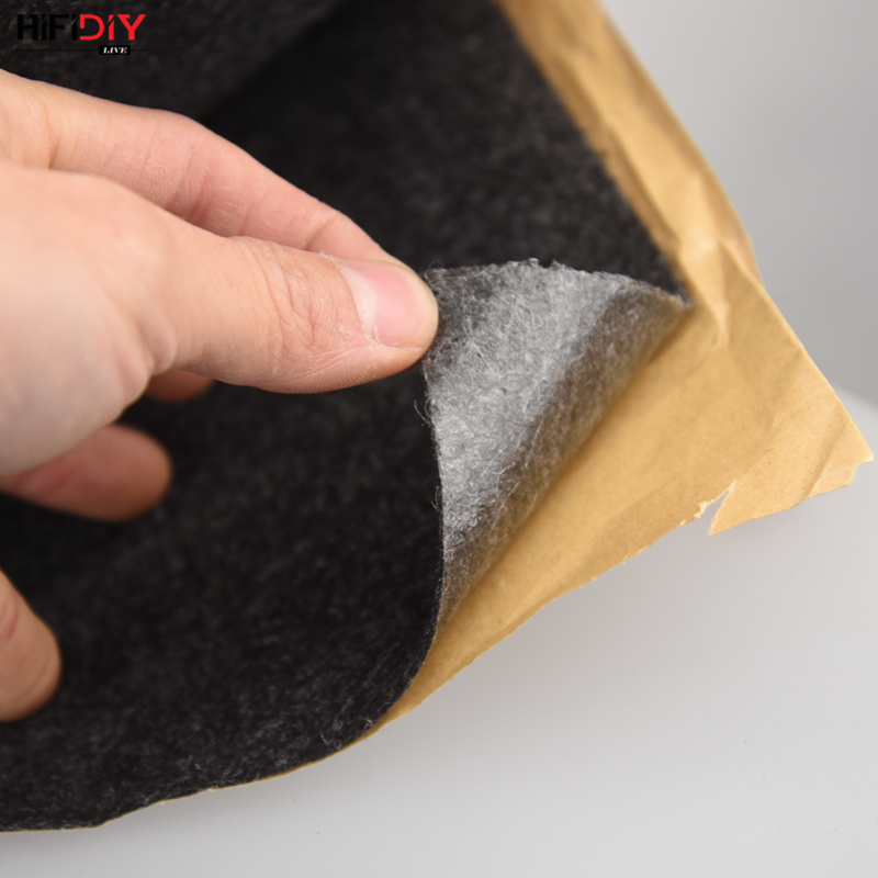 HIFIDIY LIVE 0.5M*1M Subwoofer Speaker Felt Flannel Sound-absorbing Cotton Decorative KTV Stage Speaker DIY 2.5mm Self-adhesive