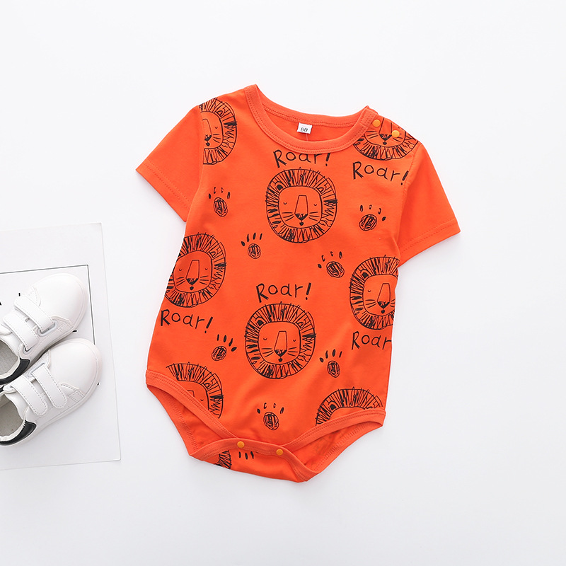 Summer Europe And America Children Infant Lion Romper Crawling Clothes One Piece Newborns Baby Ha